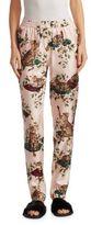 Dolce & Gabbana Cat Print Silk Twill Pajama Pants