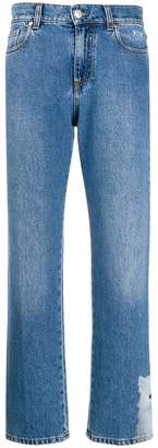 MSGM cropped cat hem jeans