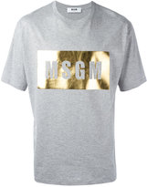 MSGM metallic logo print T-shirt - men - Cotton - S