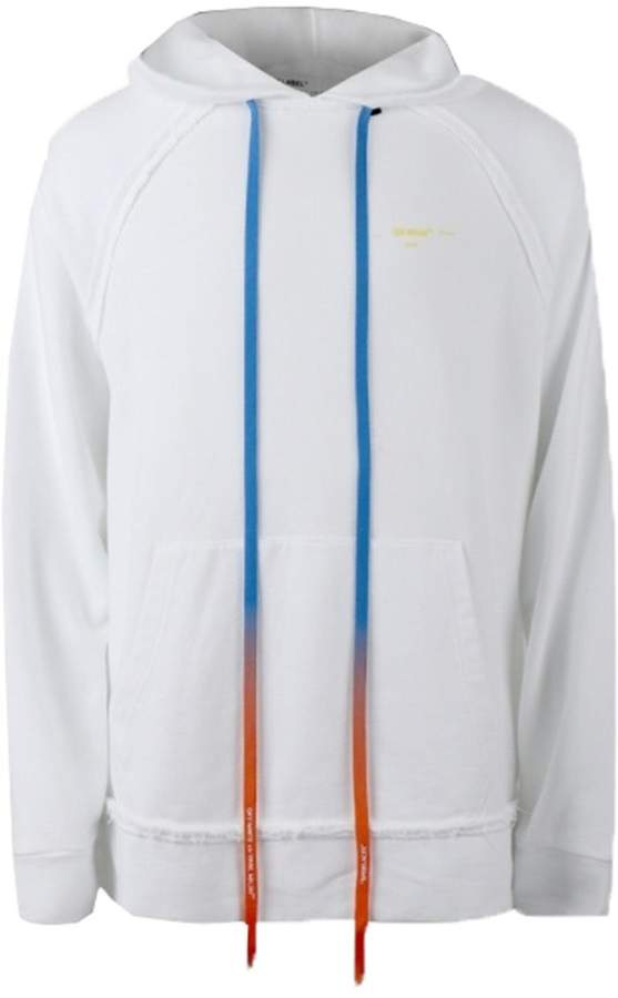 Off-White Off White acrylic paint arrows hoodie white