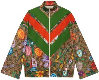 Gucci GG Flora print zip-up jacket