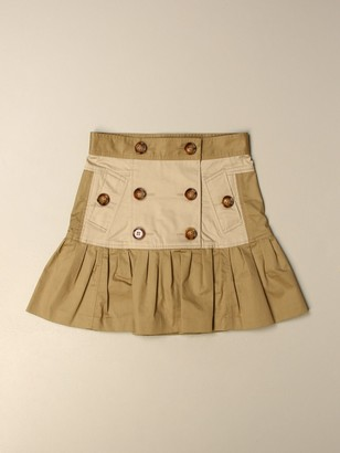 Burberry Double-breasted Cotton Skirt