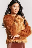 Forever 21 Faux Fur Open-Front Jacket