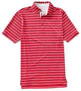 Bobby Jones XH2O Tavern Stripe Stretch Jersey Short-Sleeve Polo Shirt