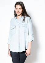 Violeta BY MANGO Light Tencel Shirt