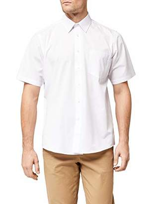 "Fruit of the Loom Men's Poplin Short Sleeve Shirt,17"" Collar (Manufacturer Size:)"