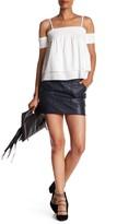 Rebecca Minkoff Char Genuine Leather Skirt