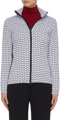 Rossignol 'Hiver' allover print stand collar full zip layer