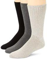Calvin Klein Men's 3 Pack Cotton Rich Casual Rib Sock