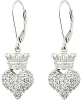 King Baby Studio Small 3D Crowned Heart Lever Back Earrings Earring