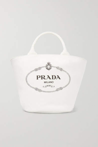 5f8be0cde97312 Prada Canvas Tote Bag - ShopStyle