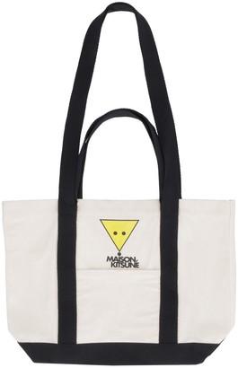 MAISON KITSUNÉ Logo Detail Tote Bag