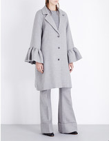 Co Flared-cuffs oversized wool and silk-blend coat