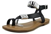 Bar III Verna Open Toe Synthetic Thong Sandal.