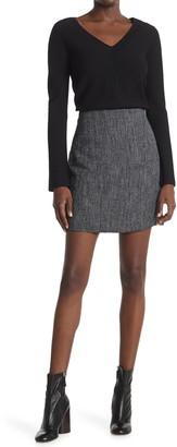 Theory Herringbone Mini Skirt