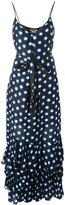 Moschino dots shift long dress - women - Cotton/Silk - 42