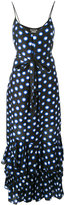 Moschino dots shift long dress - women - Silk/Cotton - 42