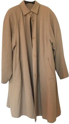 Max Mara Beige Wool Trench Coat for Women