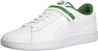 Puma Men's Smash 2 Hook and Loop Fresh Sneaker White White-Amazon Green 5.5 M US