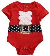 E-SHA Newborn Baby Boy Girl Kids Christmas Santa Short Sleeve Romper Sunsuit Bodysuit