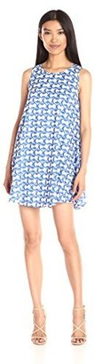Lucca Couture Women's Floral Print Sleeveless Shift Dress