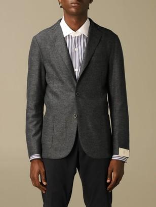 Eleventy Single-breasted Jacket In Boiled Wool