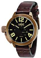 U-Boat Classico A BR unisex Automatic Watch with Brown Dial Analogue Display and Brown Leather Strap 8103.0