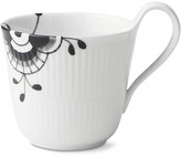 Royal Copenhagen Fluted Mega Coffee Mug - White/Black