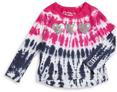 Flapdoodles Girls 2-6x Tie Dye Heart Top