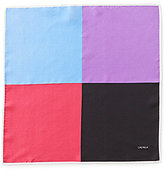 Daniel Cremieux 4-Square Color Block Solid Silk Pocket Square
