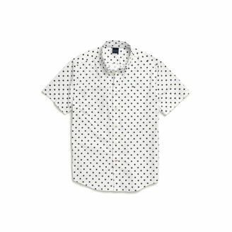 Tommy Hilfiger mens Adaptive Magnetic Short Sleeve Custom Fit Button Down Shirt