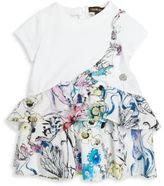 Roberto Cavalli Baby's Ruffled Floral Printed Dress