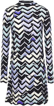 Emilio Pucci Pointelle-trimmed Intarsia Wool-blend Mini Dress