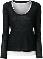 Majestic Filatures deep U-neck jumper