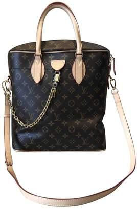 Louis Vuitton Carry All Brown Cloth Handbags