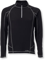 L.L. Bean Men's Polartec Power Dry Stretch Base Layer, Midweight Quarter-Zip