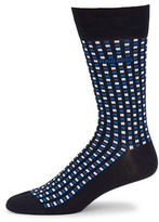 HUGO BOSS Checked Cotton-Blend Socks