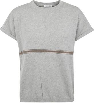Brunello Cucinelli Mid-stripe Short-sleeve Pullover