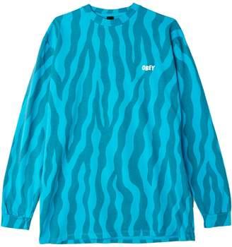 Obey Jumble Printed Logo Cotton Sweatshirt