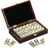 Asstd National Brand Premium Domino Set w/ Wooden Carry Case