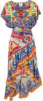 Camilla Rio Embellished Printed Silk Crepe De Chine Maxi Dress - Blue