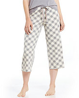Hue HUEtopia Charm Plaid Jersey Capri Sleep Pants