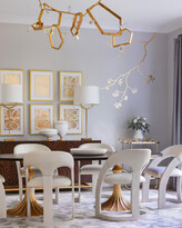 Emporium Home For William D Scott Delia Antique White/Milk Leather Chair