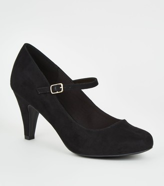 New Look Extra Wide Fit Mary Jane Courts