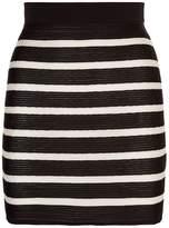 Balmain Striped Mini Skirt