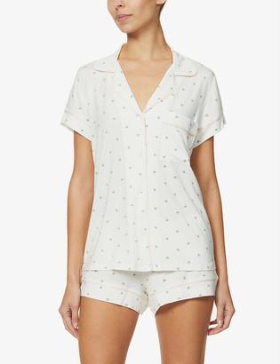 Eberjey Giving Palm stretch-woven pyjama shorts set