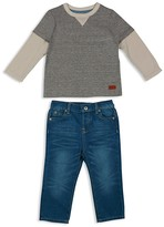 7 For All Mankind Infant Boys' Layered Look Top & Straight Jeans Set - Sizes 12-24 Months