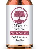 Glycolic Acid Cream 10% -Cell Renewal- Revitalize Skin- Removes Dead Skin Cells-Shrinks Pores- Hyper Pigmentation Treatment-Fades Dark Spots-Natural, Vegan & Organic Ingredients