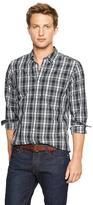 Gap Lived-in wash plaid long-sleeve shirt