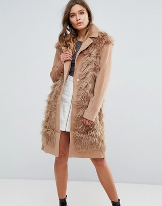 Glamorous Shaggy Faux Fur Coat